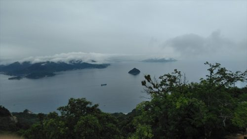 弥山の展望台景色
