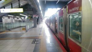 宮島行の列車