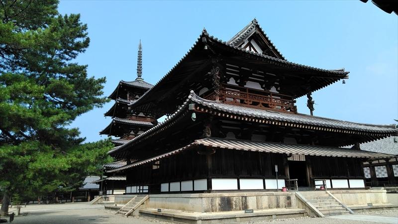 法隆寺 五重の塔と金堂